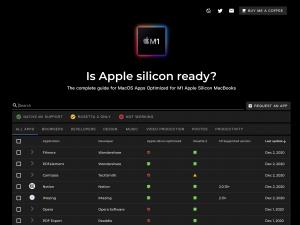 MacBook M1 silicon 支援軟件查詢 1